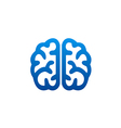 brain abstract knowledge science logo vector image vector image
