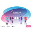 business teams connect plug businessmen vector image vector image