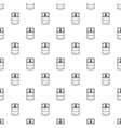 candle glass pattern seamless vector image vector image