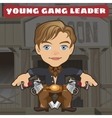 cartoon character in wild west - young gang leader vector image
