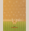 christmas decorated brown paper with text vector image vector image