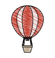 color crayon stripe hot air balloon vector image vector image