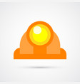 colored construction helmet trendy symbol vector image