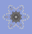 colorful snowflakes for christmas winter design vector image