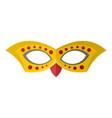 costume mask icon flat style vector image