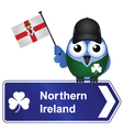 COUNTRY SIGN NORTHERN IRELAND vector image vector image