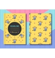 Cover template notebook brochure diary and vector image vector image