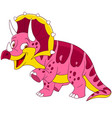 cute triceratops dinosaur vector image