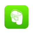 denim jeans icon green vector image vector image