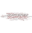disappointment word cloud concept vector image vector image