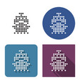 dotted icon ship in four variants with short vector image vector image