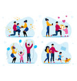 family holiday celebrating traditions set vector image vector image