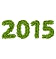 Figures of 2015 vector image