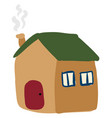 flat home on white background vector image vector image