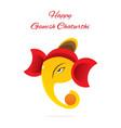 ganesh chaturthi festival poster vector image vector image