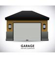 garage design vector image vector image