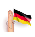 germany flag waving vector image vector image