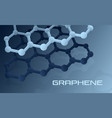 graphene atomic structure vector image vector image