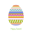Greeting card with Easter egg vector image vector image