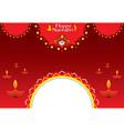 happy navratri festival banner design vector image vector image