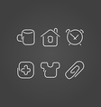 Home set icons draw effect vector image vector image