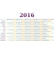 Horizontal calendar for year 2016 vector image vector image