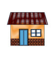 house exterior door window brick residentail icon vector image vector image