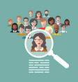 human resources management vector image vector image