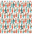 industrial workers seamless pattern vector image vector image