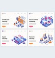 isometric cyber security technology vector image vector image