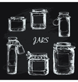 Jars with label vector image vector image