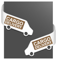 left and right side sign - cargo delivery vector image vector image