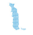 map togo vector image vector image