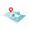 Map With Pin Pointer vector image vector image