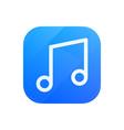 melody glossy flat icon tune symbol vector image vector image
