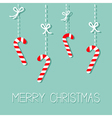 Merry Christmas Hanging Candy Cane Dash line with vector image vector image