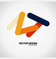 modern business icon geometric emblem abstract vector image vector image