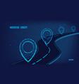 navigation concept logistic concept road vector image