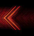 orange light black line arrow on red polygon vector image vector image