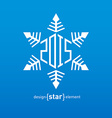 Original snowflake with new year date vector image vector image