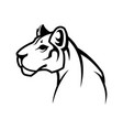 Panther outline silhouette puma or lioness icon