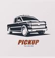 pickup car stylized symbol logo or emblem vector image vector image