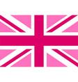 pink jack flag vector image