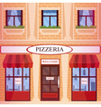 Pizzeria Restaurant Building in flat style vector image