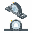 plummer block bearing without outline and colored vector image vector image