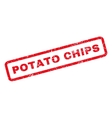 Potato Chips Rubber Stamp vector image vector image