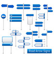 road arrow signs realistic set vector image vector image