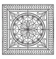roman square panel is a mosaic pavement design vector image vector image