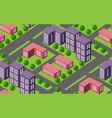 seamless urban plan vector image vector image