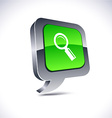 Searching 3d balloon button vector image vector image